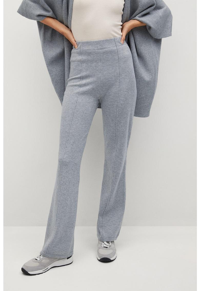 Pantaloni tricotati evazati Bomin