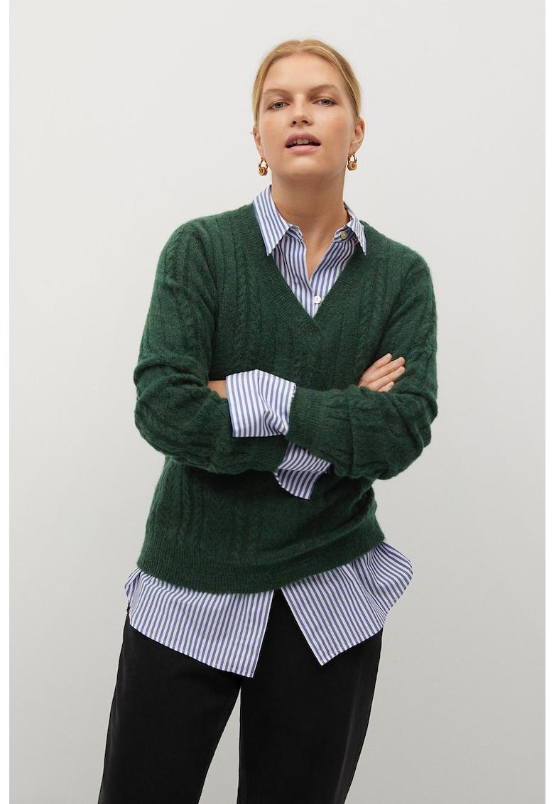 Pulover cu model torsade Tiana imagine fashiondays.ro