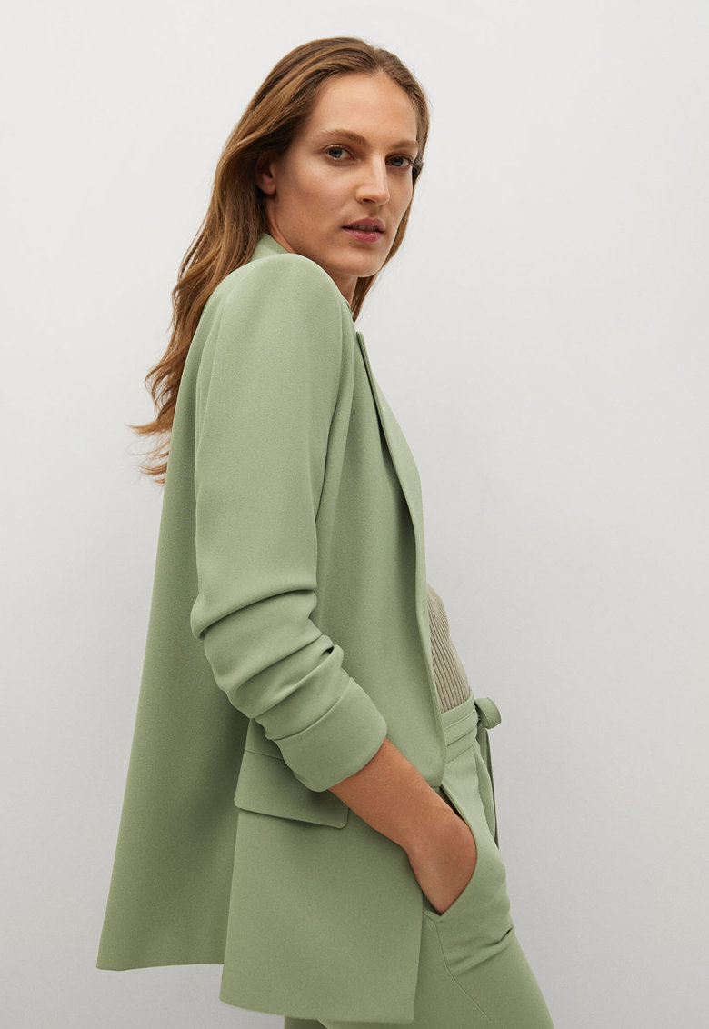 Sacou cu revere decupate Eleonor poza fashiondays