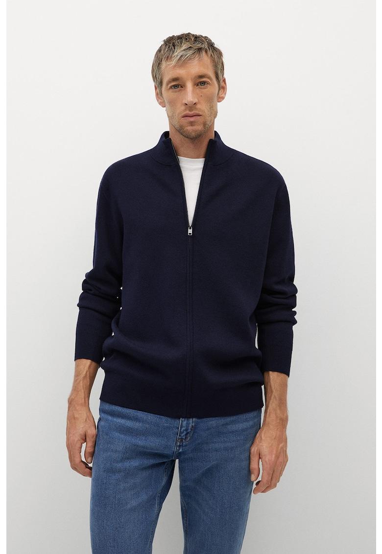 Cardigan tricotat fin cu fermoar Tenc imagine