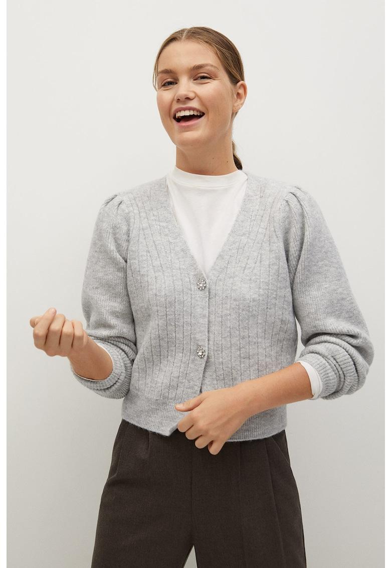 Mango Cardigan scurt tricotat fin Hera