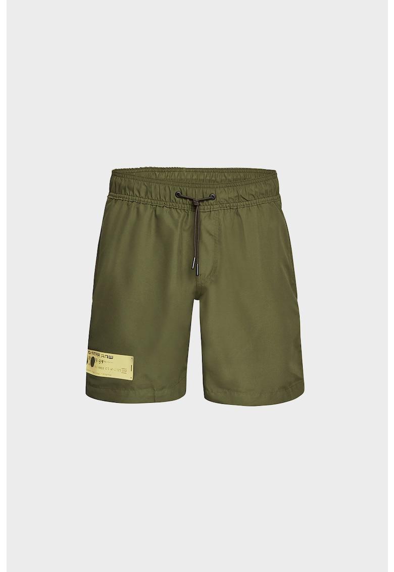Pantaloni scurti de baie cu snur de ajustare in talie imagine fashiondays.ro 2021