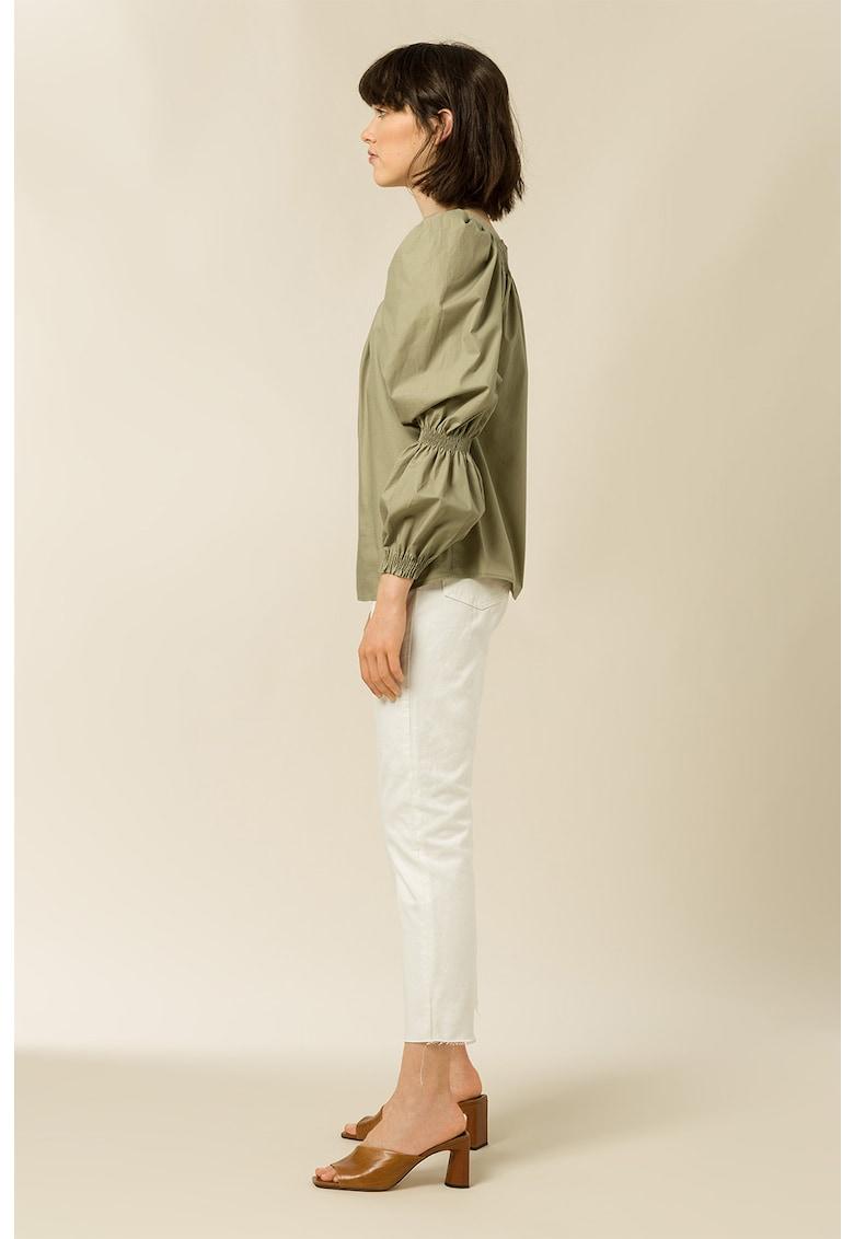 Bluza de bumbac organic cu maneci bufante Tea imagine