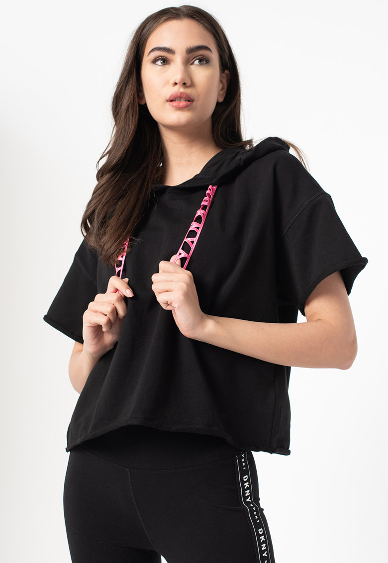 Hanorac cu maneci scurte imagine fashiondays.ro DKNY