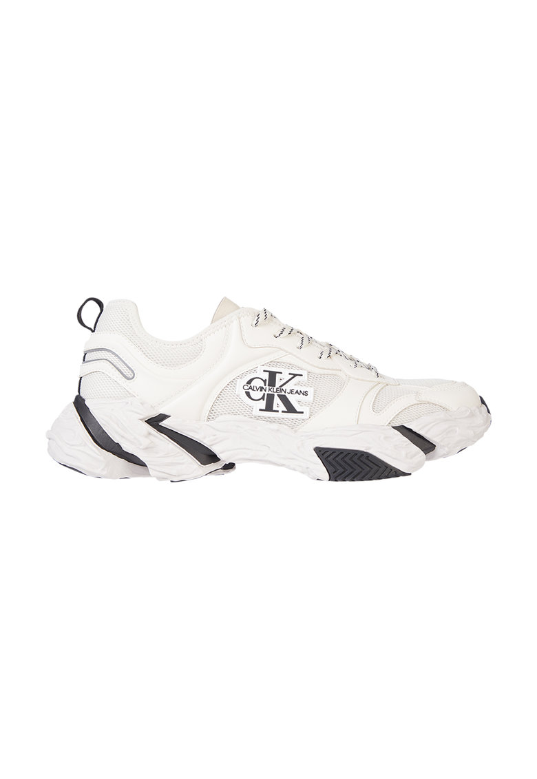 Pantofi sport cu insertii de piele ecologica si aspect masiv