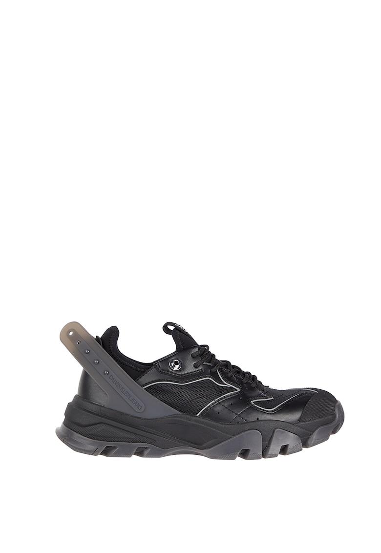 Pantofi sport de piele ecologica cu aspect masiv CALVIN KLEIN JEANS fashiondays.ro