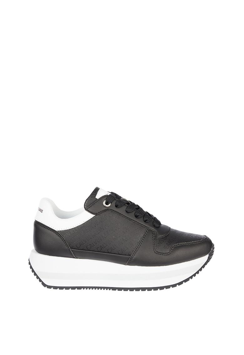 Pantofi sport de piele ecologica cu platforma imagine