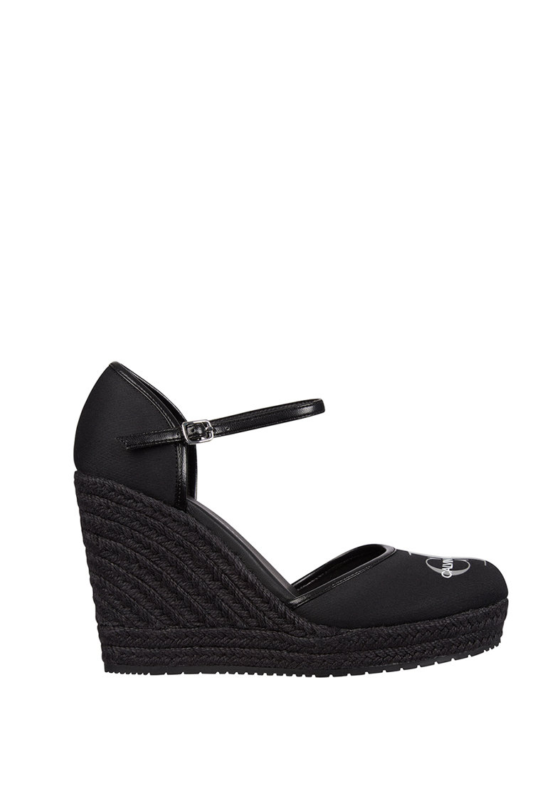 Sandale tip espadrile wedge cu logo CALVIN KLEIN JEANS fashiondays.ro