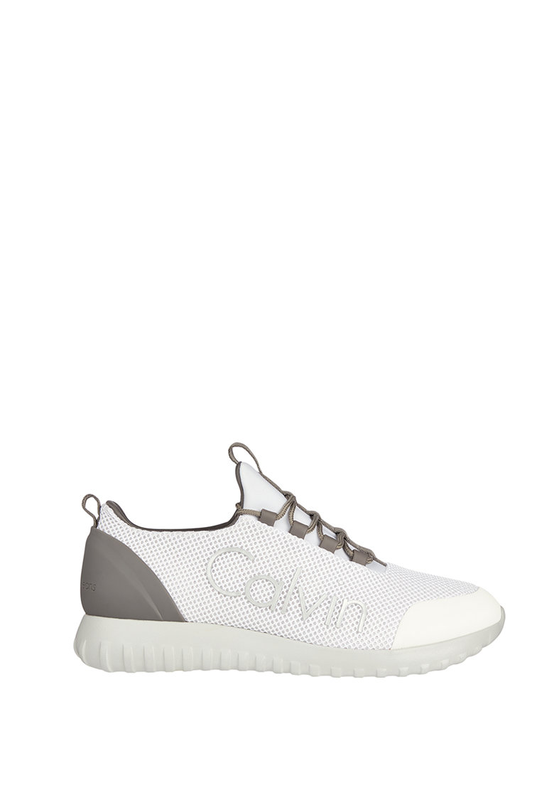 Pantofi sport slip-on de plasa cu insertii de piele ecologica imagine
