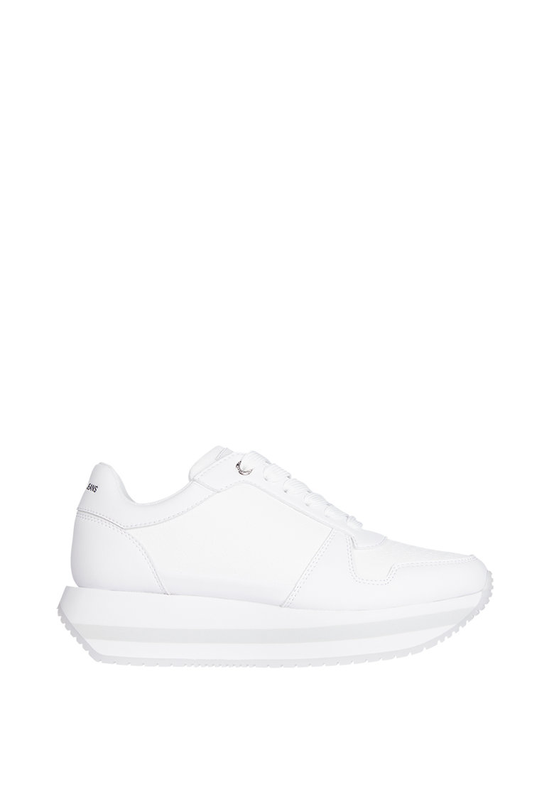 Pantofi sport flatform de piele ecologica imagine