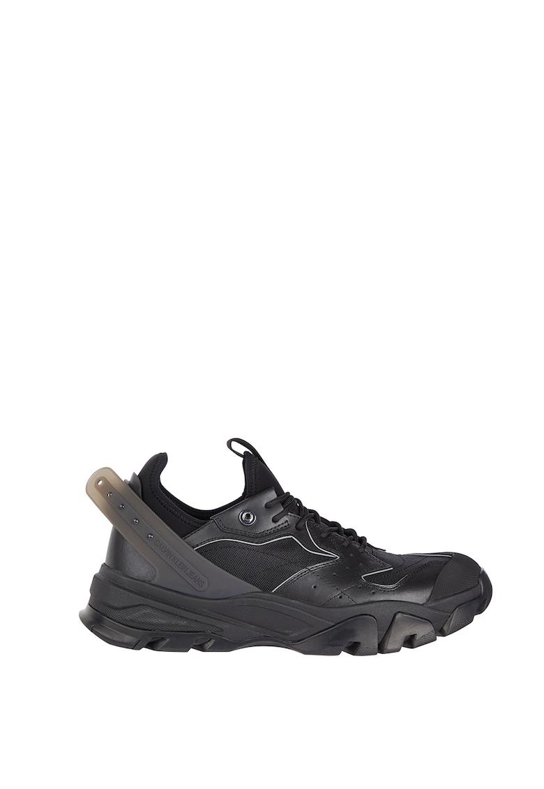 Pantofi sport de piele cu aspect masiv CALVIN KLEIN JEANS fashiondays.ro