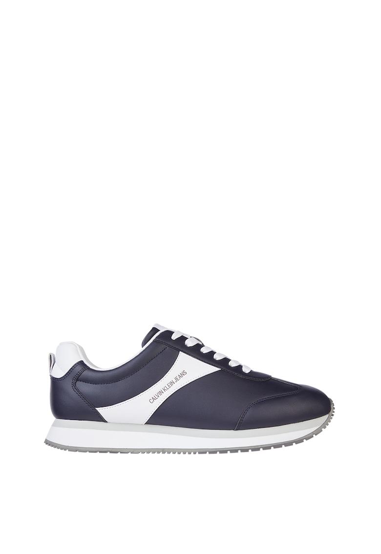 Pantofi sport de piele cu garnituri contrastante imagine