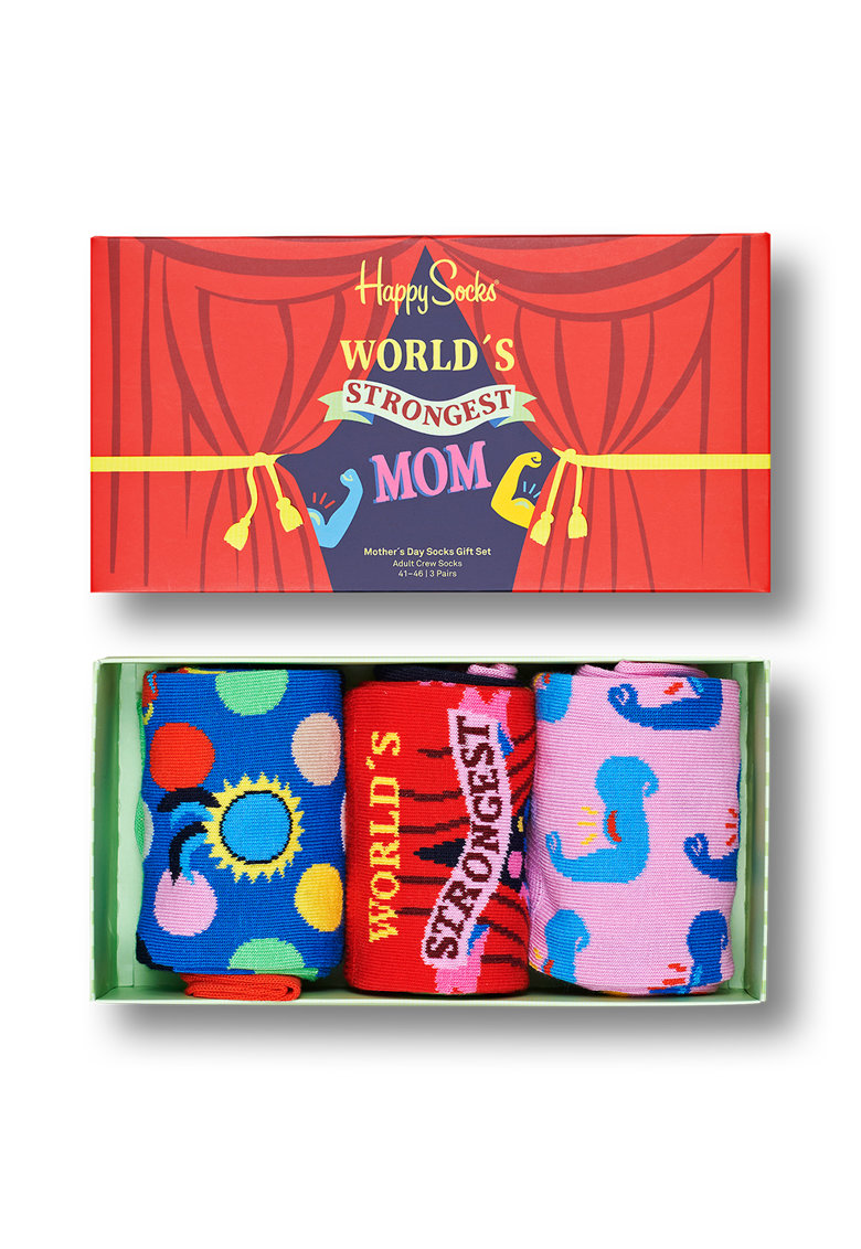 Cutie-cadou cu sosete cu imprimeu - 3 perechi imagine