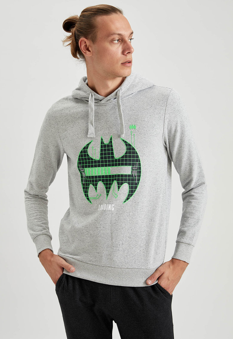 Hanorac slim fit cu imprimeu Batman