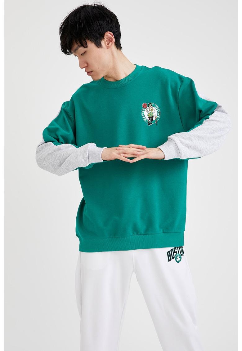 Bluza sport unisex supradimensionata cu terminatii striate imagine
