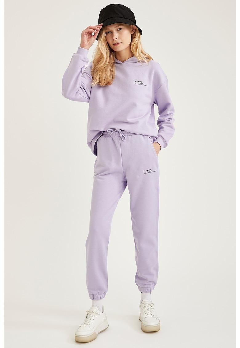 Pantaloni sport cu croiala conica imagine fashiondays.ro