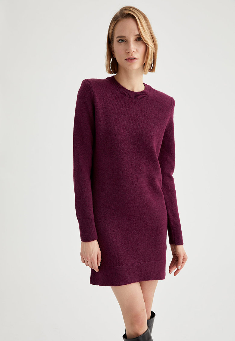 Rochie tip pulover tricotata fin imagine fashiondays.ro