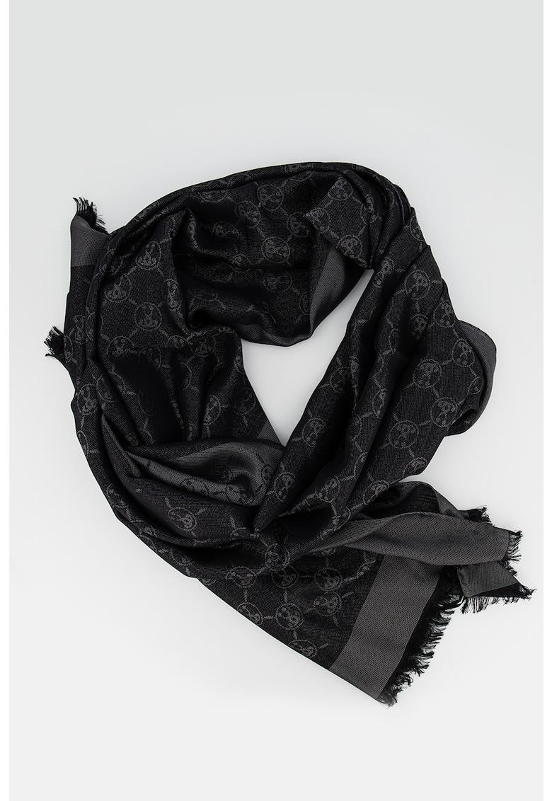 Esarfa din amestec de lana cu imprimeu poza fashiondays
