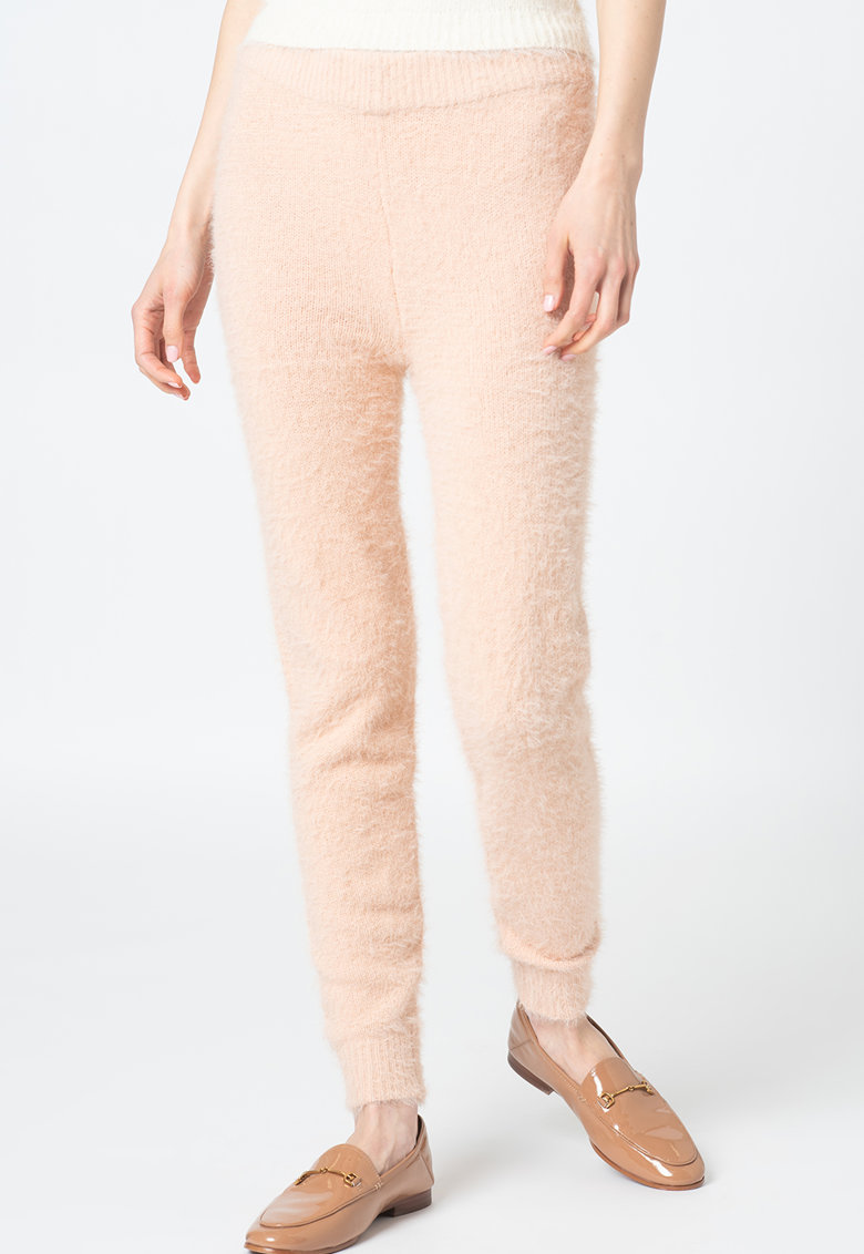 BRAVE SOUL Pantaloni crop cu textura pufoasa Baronyb
