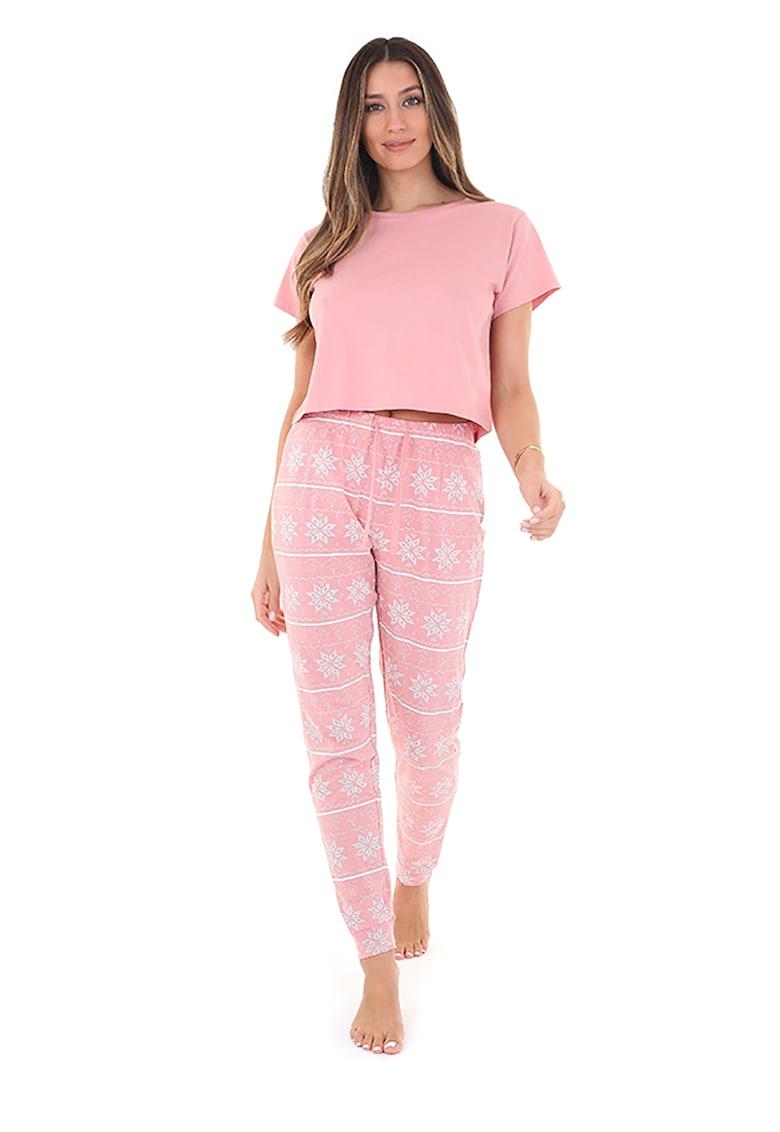 BRAVE SOUL Pijama cu pantaloni cu model geometric Alice