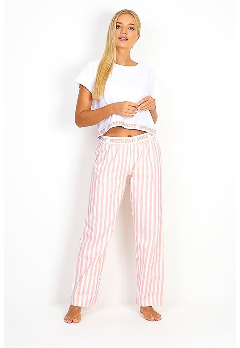 Pijama de bumbac cu pantaloni lungi Samedi