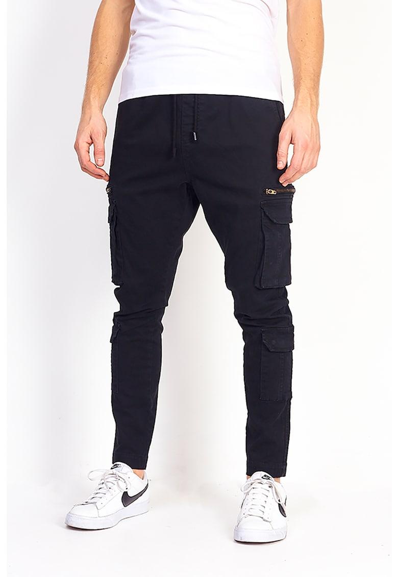 Pantaloni cargo cu snur