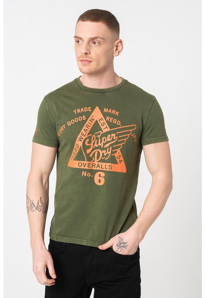 Tricou din bumbac cu imprimeu Copper Label