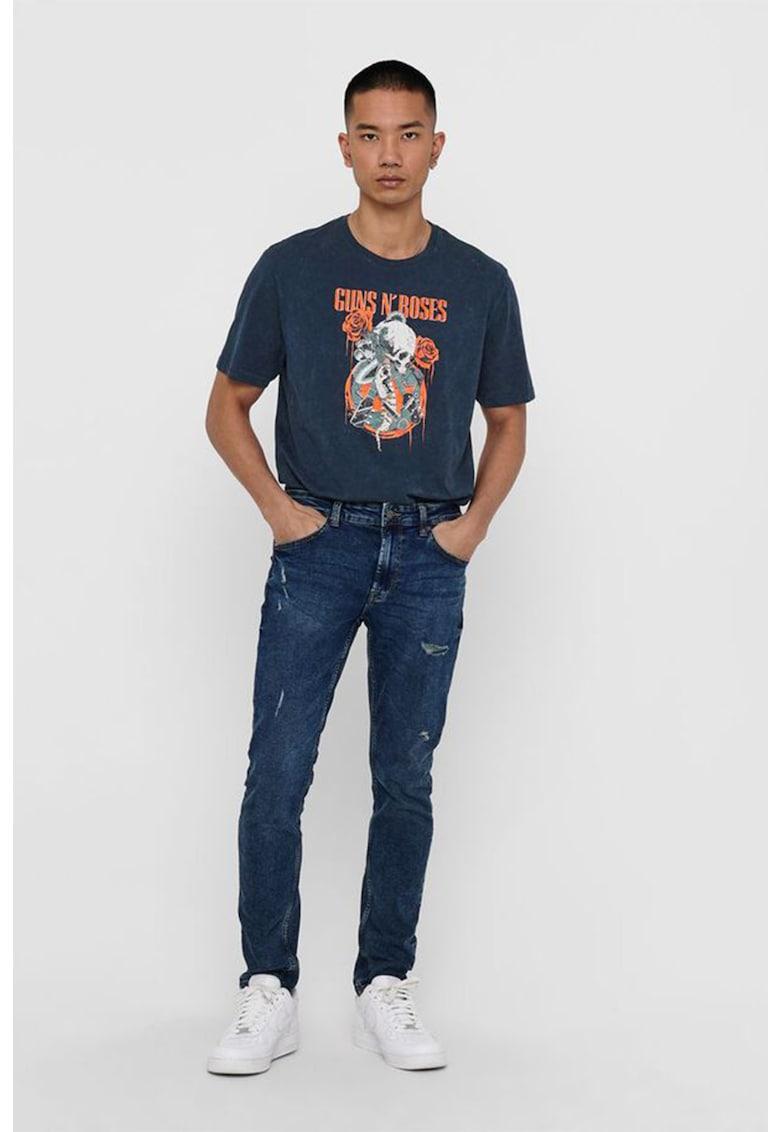 Tricou de bumbac cu tematica Guns 'N' Roses Bărbați imagine