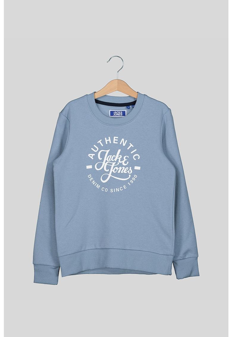 Bluza sport cu decolteu la baza gatului si imprimeu text si logo de la JackJones