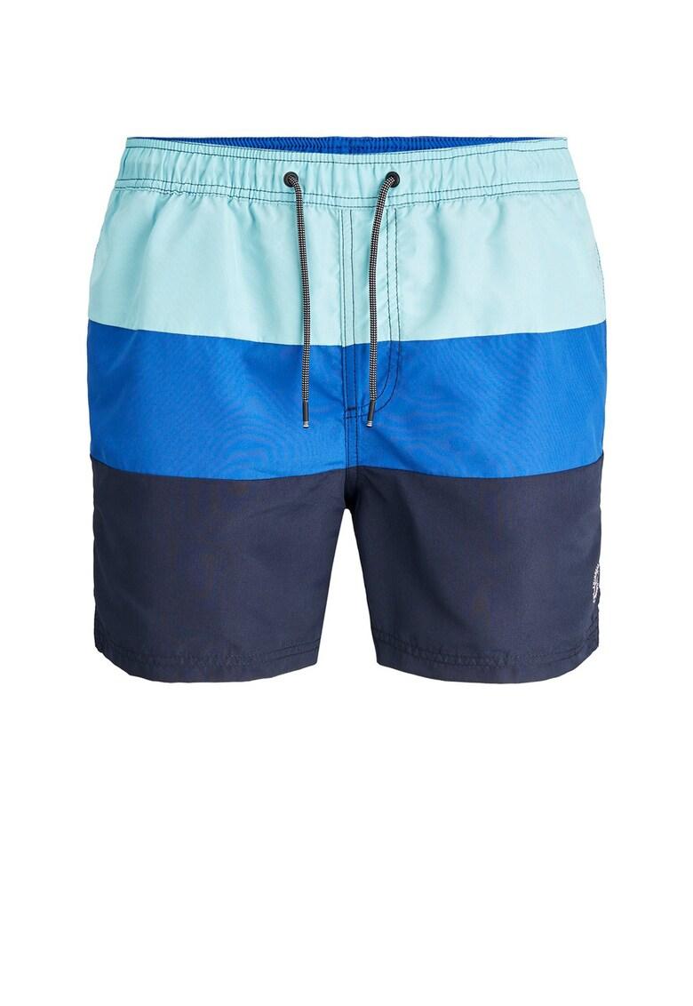 Pantaloni scurti de baie cu model colorblock