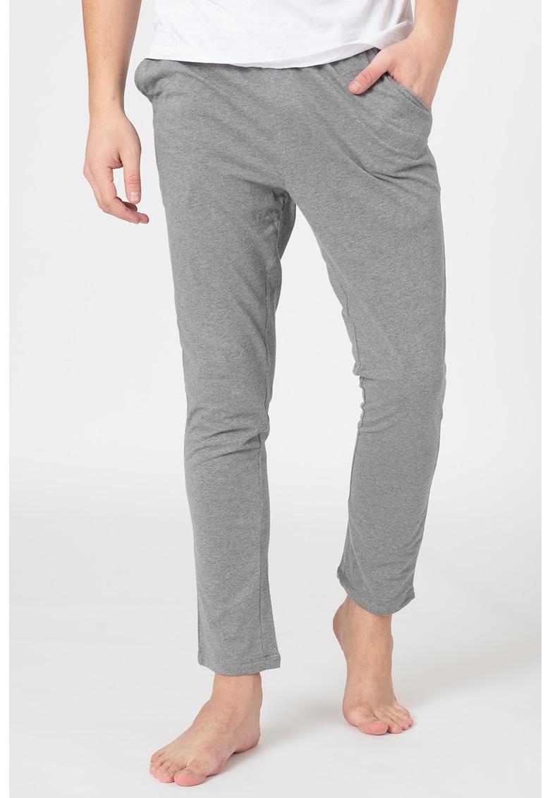 Pantaloni de pijama cu banda cu logo in talie Simon