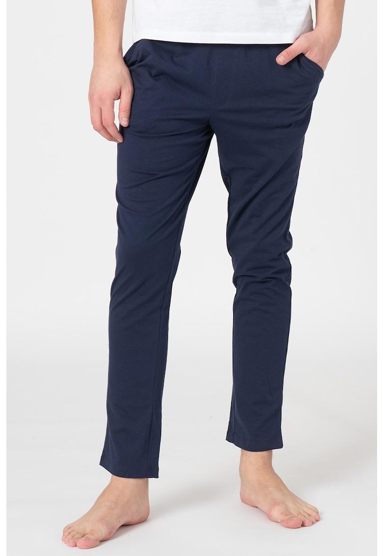 Pantaloni de pijama cu banda cu logo in talie Simon poza fashiondays