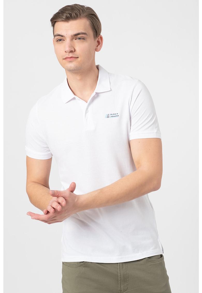 Tricou polo cu logo discret Bărbați imagine