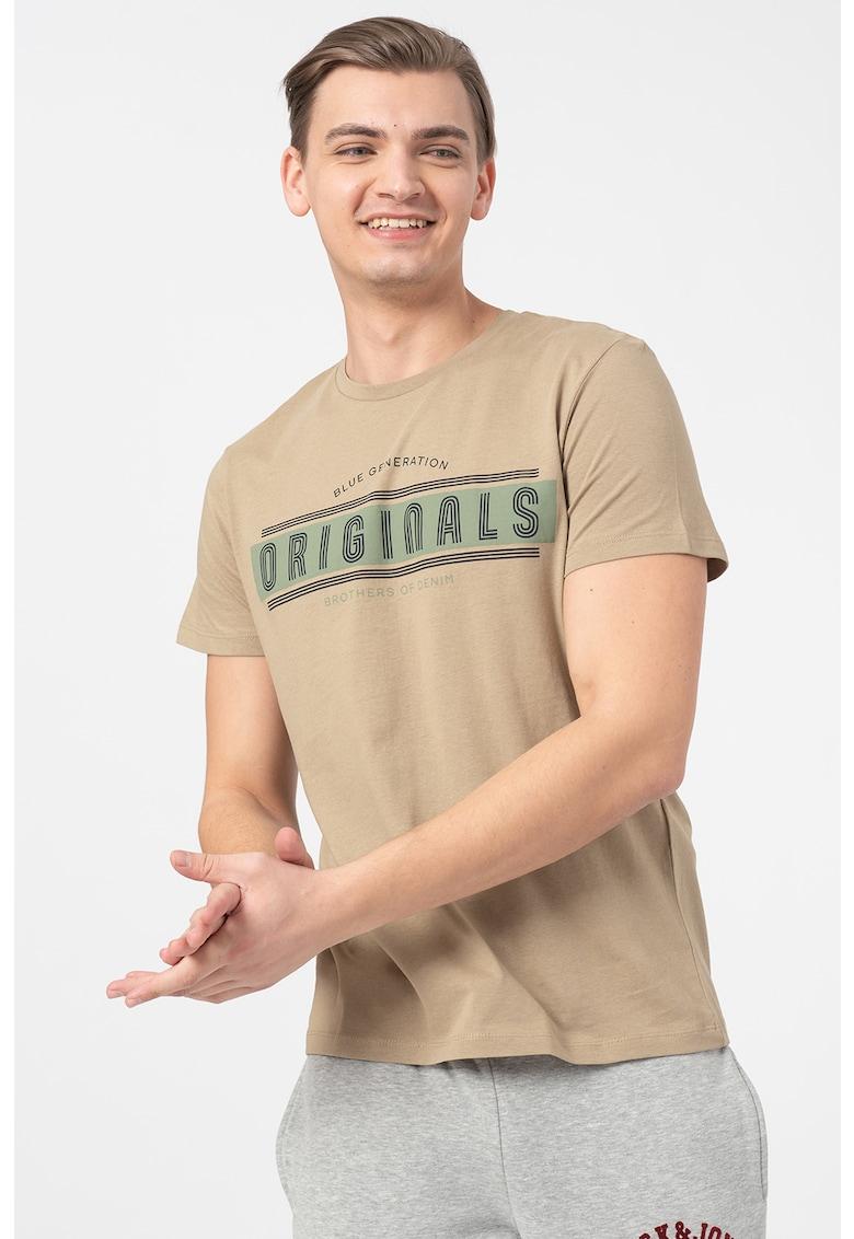 Tricou regular fit cu imprimeu logo Star Bărbați imagine