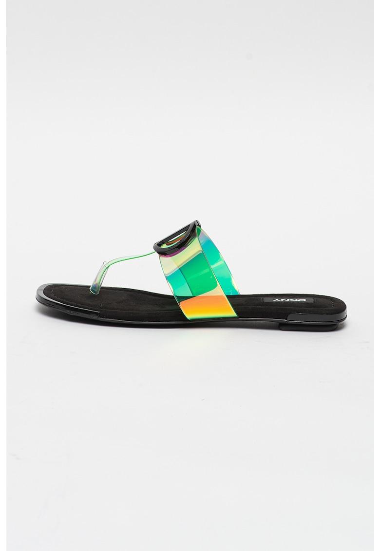 Papuci cu bareta separatoare Halcott imagine fashiondays.ro DKNY