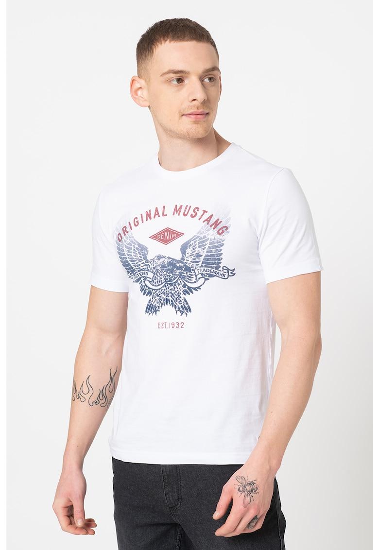 Tricou cu imprimeu logo si grafic Alex Bărbați imagine