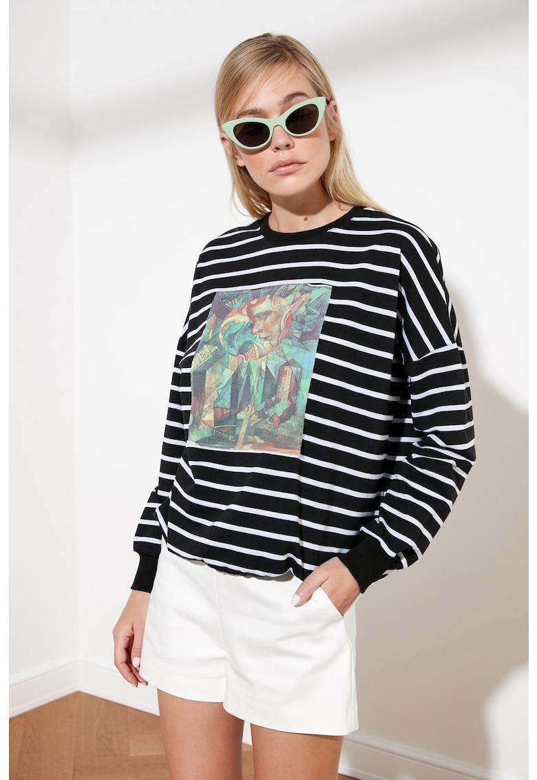 Bluza sport supradimensionata cu maneci cazute imagine
