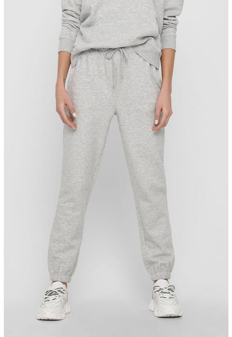 Pantaloni sport din amestec de bumbac organic cu buzunare laterale imagine