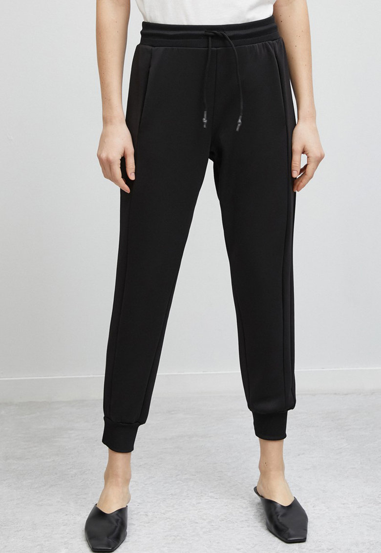 Pantaloni sport crop cu snur imagine