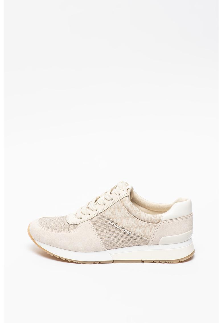 Pantofi sport cu garnituri de piele intoarsa si piele Allie Michael Kors fashiondays.ro