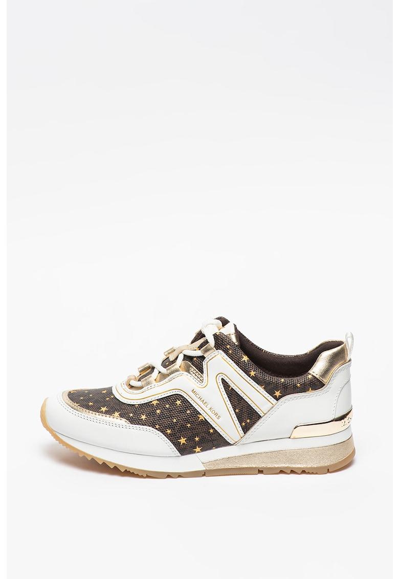 Pantofi sport de piele si piele ecologica Pippin Michael Kors fashiondays.ro