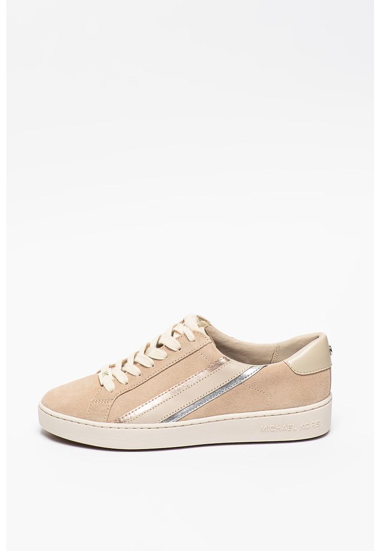 Pantofi sport cu garnituri de piele intoarsa Slade Michael Kors fashiondays.ro