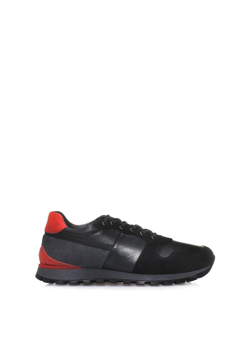 Pantofi sport din piele cu insertii din piele intoarsa Gaynell imagine