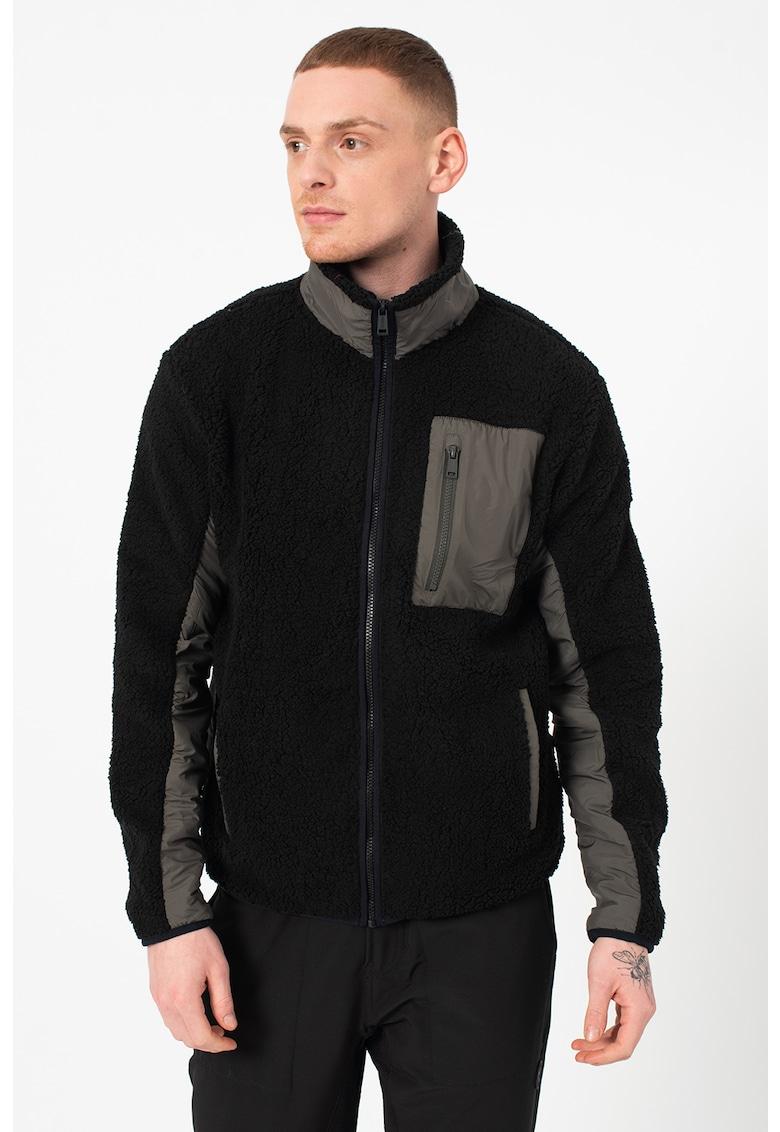 Jacheta de blana shearling sintetica imagine