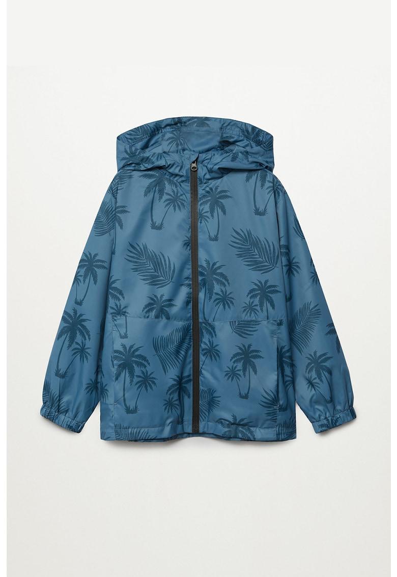 Jacheta cu gluga si model cu palmieri Chicago poza fashiondays