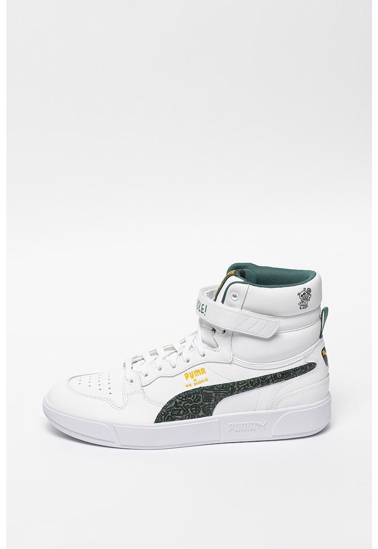 Pantofi sport hi-top cu garnituri de piele Sky LX Mr Doodle