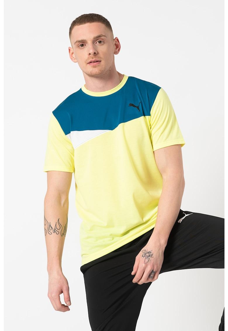 Tricou cu model colorblock si tehnologie DryCELL - pentru antrenament Bărbați imagine