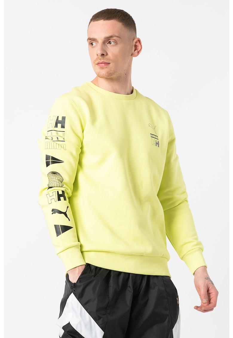 Bluza sport cu decolteu la baza gatului si imprimeu imagine fashiondays.ro Puma