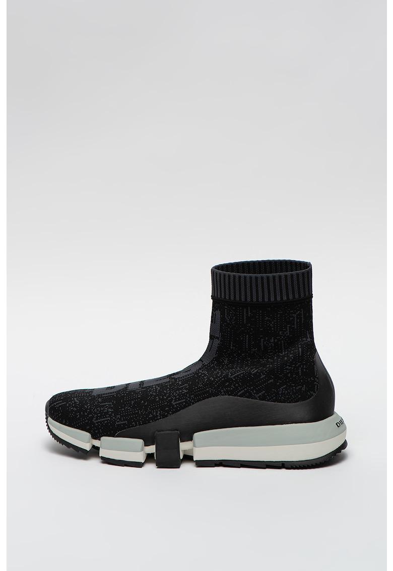 Pantofi sport inalti cu constructie din material textil in partea superioara H-Padola