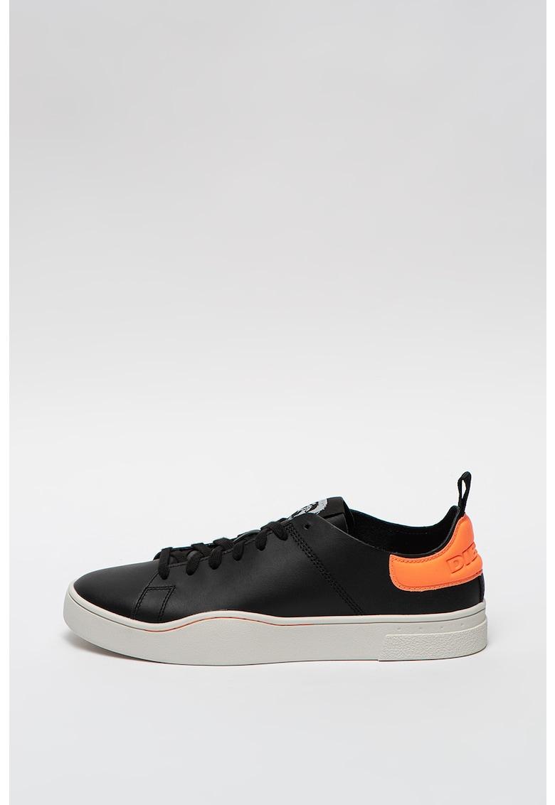 Pantofi sport din piele cu garnitura contrastanta S-Clever